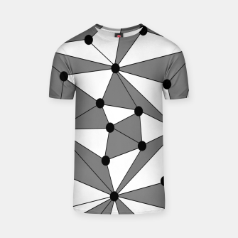 Miniatur Abstract geometric pattern - gray and white. T-shirt, Live Heroes