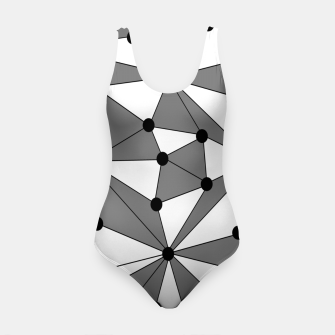 Miniatur Abstract geometric pattern - gray and white. Swimsuit, Live Heroes