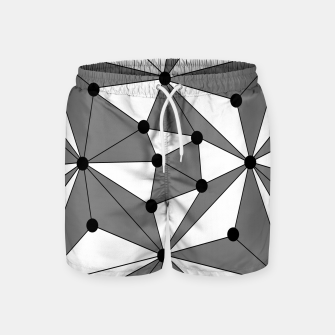 Miniatur Abstract geometric pattern - gray and white. Swim Shorts, Live Heroes