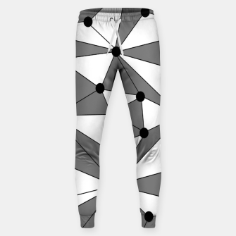 Miniatur Abstract geometric pattern - gray and white. Sweatpants, Live Heroes