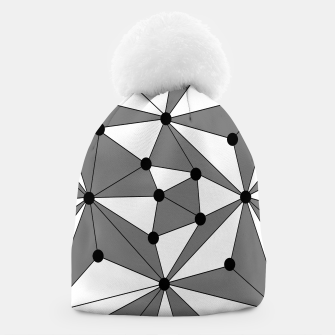 Miniatur Abstract geometric pattern - gray and white. Beanie, Live Heroes