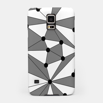Miniatur Abstract geometric pattern - gray and white. Samsung Case, Live Heroes