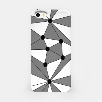 Miniatur Abstract geometric pattern - gray and white. iPhone Case, Live Heroes