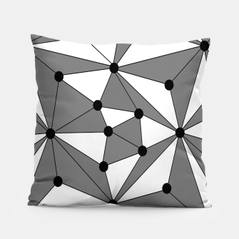 Miniatur Abstract geometric pattern - gray and white. Pillow, Live Heroes