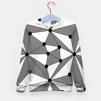 Miniatur Abstract geometric pattern - gray and white. Kid's sweater, Live Heroes