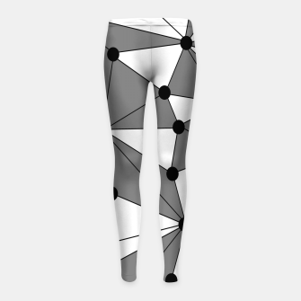 Miniatur Abstract geometric pattern - gray and white. Girl's leggings, Live Heroes