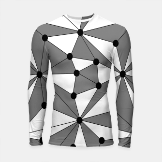 Miniatur Abstract geometric pattern - gray and white. Longsleeve rashguard , Live Heroes