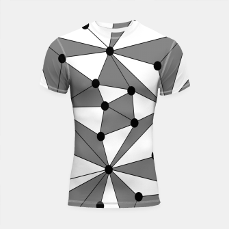 Miniatur Abstract geometric pattern - gray and white. Shortsleeve rashguard, Live Heroes