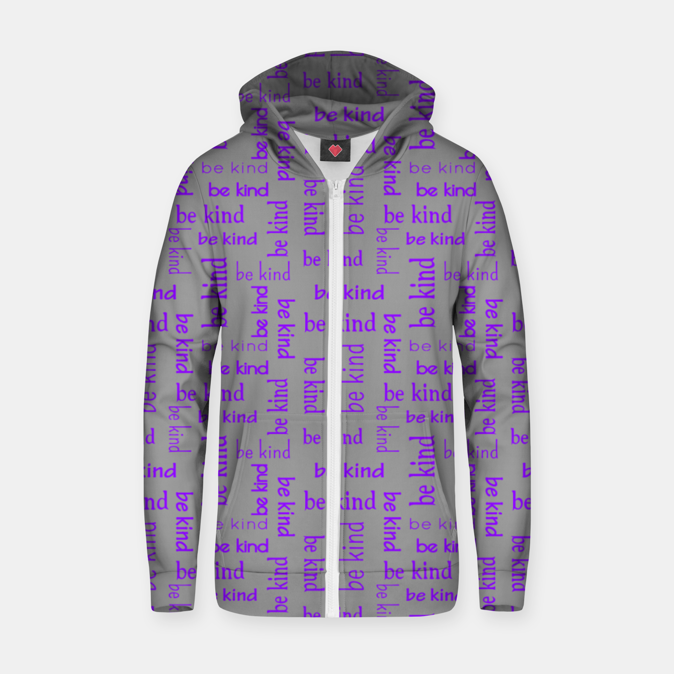 Image of Be Kind Quote Kindness Gifts Motivational Inspirational Zip up hoodie - Live Heroes