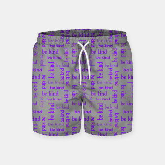 Miniatur Be Kind Quote Kindness Gifts Motivational Inspirational Swim Shorts, Live Heroes
