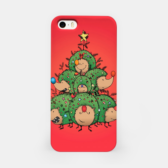 Thumbnail image of Hedgehogs Christmas Tree iPhone Case, Live Heroes