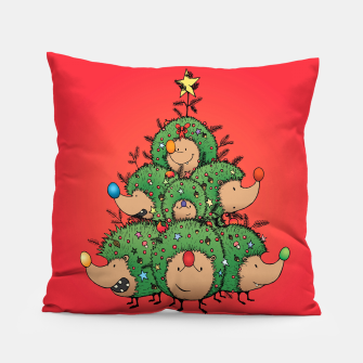 Thumbnail image of Hedgehogs Christmas Tree Pillow, Live Heroes