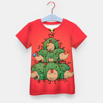 Thumbnail image of Hedgehogs Christmas Tree Kid's t-shirt, Live Heroes