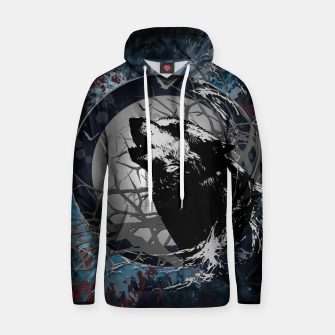 Miniatur Howling Wolf Graphic Style Kapuzenpullover, Live Heroes