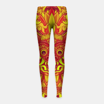 Miniatur Yellow Bali Girl's leggings, Live Heroes