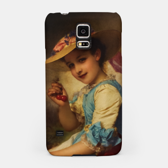 Miniaturka The Cherry Girl by Adolphe Piot Classical Art Reproduction Samsung Case, Live Heroes