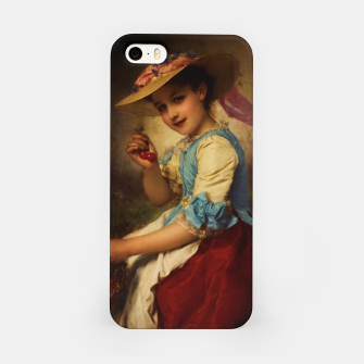 Thumbnail image of The Cherry Girl by Adolphe Piot Classical Art Reproduction iPhone Case, Live Heroes