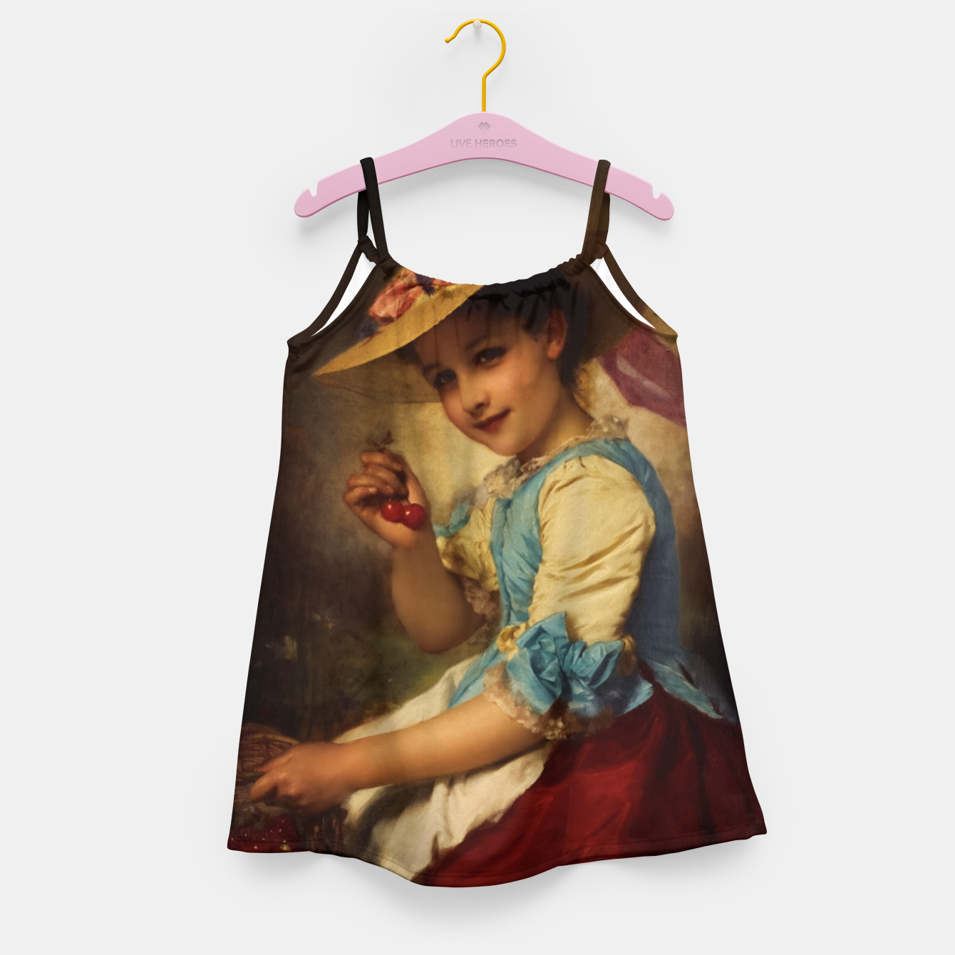 Image of The Cherry Girl by Adolphe Piot Classical Art Reproduction Girl's dress - Live Heroes