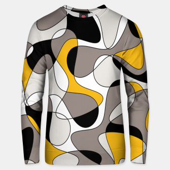 Miniaturka Abstract pattern - orange and gray. Unisex sweater, Live Heroes