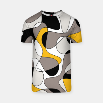 Miniaturka Abstract pattern - orange and gray. T-shirt, Live Heroes
