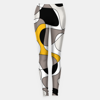 Miniaturka Abstract pattern - orange and gray. Leggings, Live Heroes