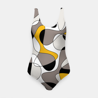 Miniaturka Abstract pattern - orange and gray. Swimsuit, Live Heroes
