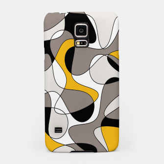 Miniaturka Abstract pattern - orange and gray. Samsung Case, Live Heroes