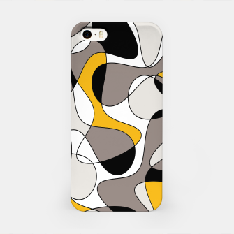 Miniaturka Abstract pattern - orange and gray. iPhone Case, Live Heroes