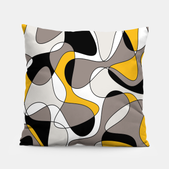 Miniaturka Abstract pattern - orange and gray. Pillow, Live Heroes
