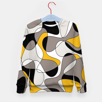 Miniaturka Abstract pattern - orange and gray. Kid's sweater, Live Heroes