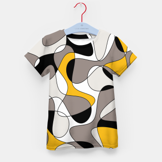 Miniaturka Abstract pattern - orange and gray. Kid's t-shirt, Live Heroes