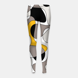 Miniaturka Abstract pattern - orange and gray. Girl's leggings, Live Heroes