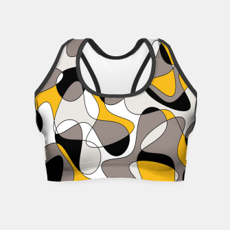 Miniaturka Abstract pattern - orange and gray. Crop Top, Live Heroes