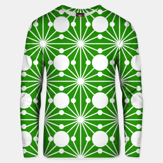 Miniatur Abstract geometric pattern - green and white. Unisex sweater, Live Heroes