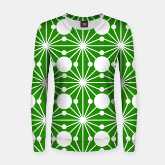 Miniatur Abstract geometric pattern - green and white. Women sweater, Live Heroes