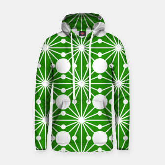 Miniatur Abstract geometric pattern - green and white. Hoodie, Live Heroes