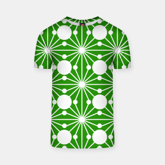 Miniatur Abstract geometric pattern - green and white. T-shirt, Live Heroes
