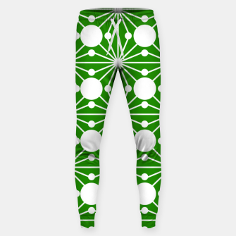 Miniaturka Abstract geometric pattern - green and white. Sweatpants, Live Heroes