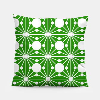 Miniatur Abstract geometric pattern - green and white. Pillow, Live Heroes