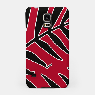 Miniatur Leaves Silhouette Tropical Style Print Samsung Case, Live Heroes