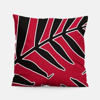 Miniatur Leaves Silhouette Tropical Style Print Pillow, Live Heroes