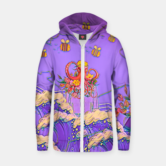 Thumbnail image of Octopus and bees Zip up hoodie, Live Heroes