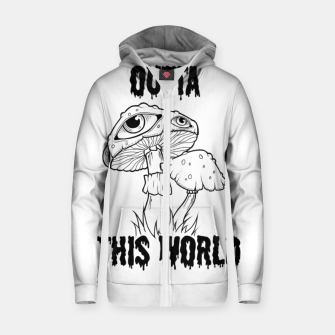 Thumbnail image of OUTTA THIS WORLD Sudadera con capucha y cremallera , Live Heroes