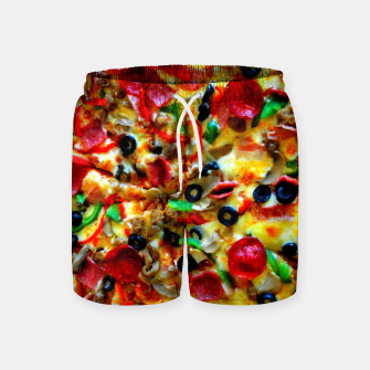 Miniatur PIZZA 7 Swim Shorts, Live Heroes