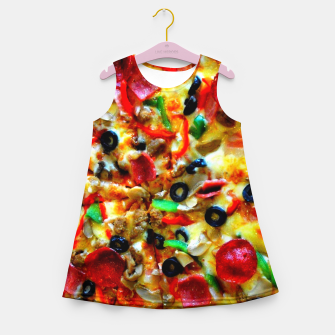 Miniatur PIZZA 7 Girl's summer dress, Live Heroes