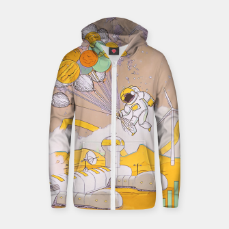Thumbnail image of On the moon Zip up hoodie, Live Heroes