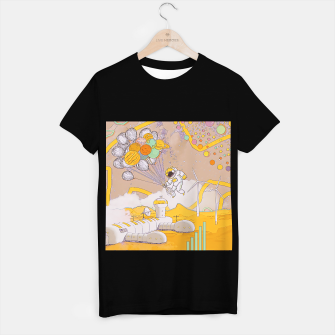 Miniatur On the moon T-shirt regular, Live Heroes