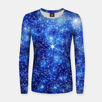 Thumbnail image of  Blurred Star Snow Christmas Sparkle Sudadera para mujeres, Live Heroes