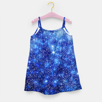 Thumbnail image of  Blurred Star Snow Christmas Sparkle Vestido para niñas, Live Heroes