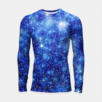 Thumbnail image of  Blurred Star Snow Christmas Sparkle Longsleeve rashguard, Live Heroes